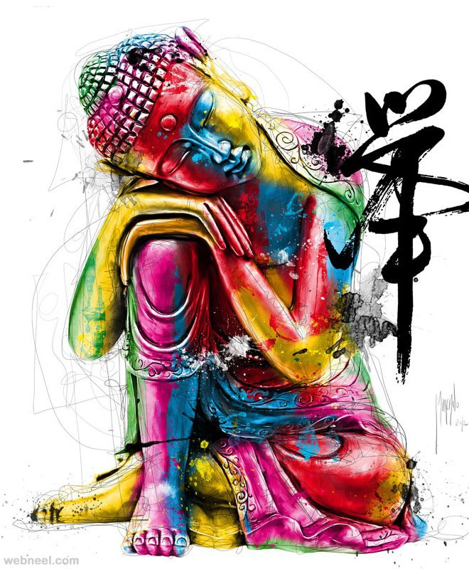 artistic buddha